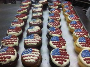 Society Bakery American Flag Cupcakes
