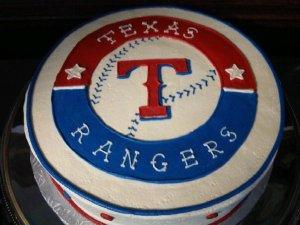 Society Bakery Texas Rangers Cake