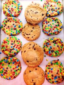 Society Bakery M&M and Chocolate Chip Cookies